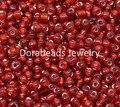 DoreenBeads 450 Gramos Dark Red Foil Glass Seed Beads 6/0 (B12059), yiwu