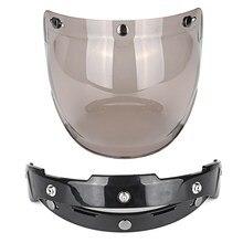 3 Snap Sunglasses Motorcycle Helmet Bubble Visor Lens Windproof Retro Motorbike Bubble Shield Mask Visor For