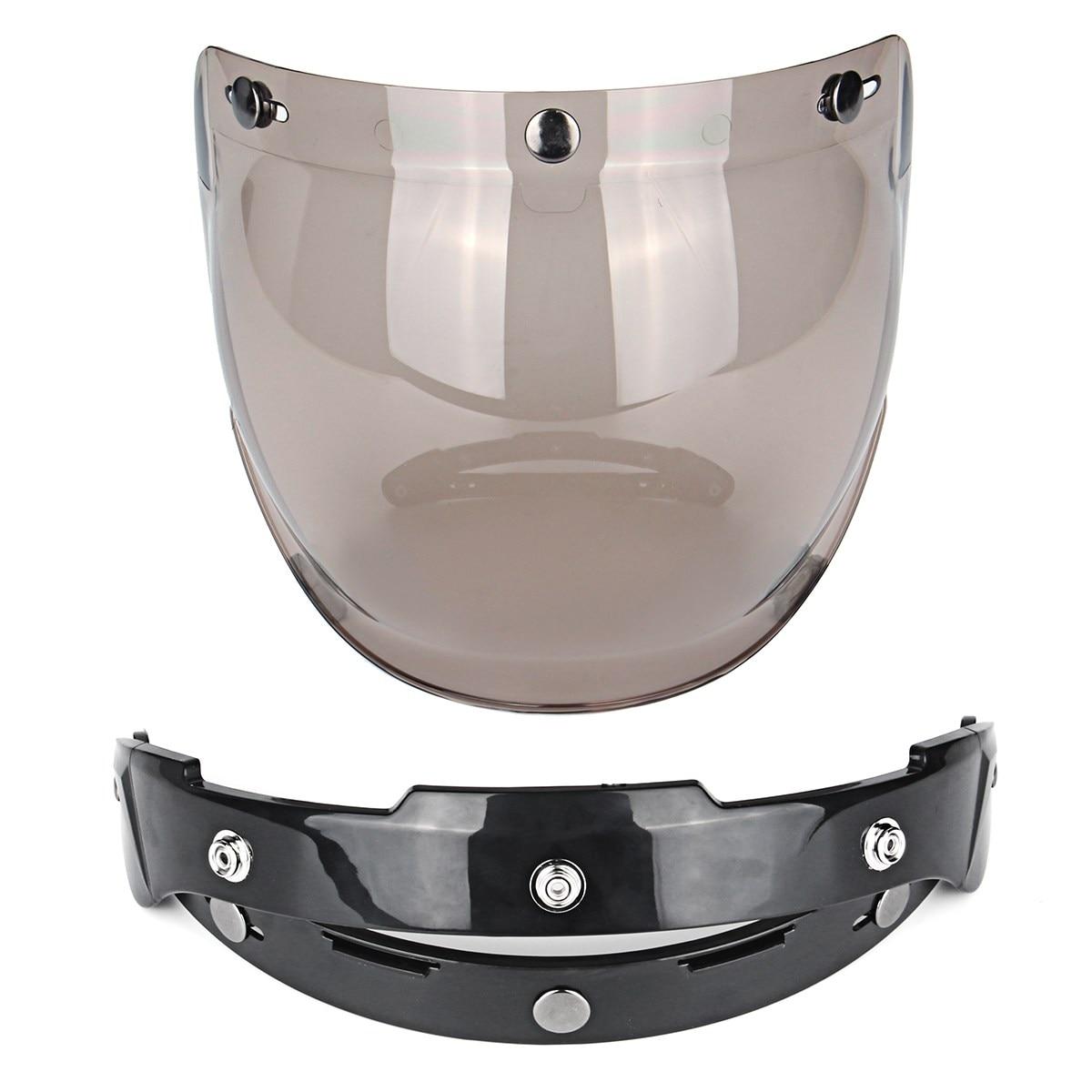 3 Snap Sunglasses Motorcycle font b Helmet b font Bubble Visor Lens Windproof Retro Motorbike Bubble