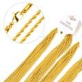 De oro Llena de Collar de Cadena de Acero Inoxidable para Los Hombres y Mujeres de Acero Inoxidable Collar de Cadena de Oro de Alta Calidad