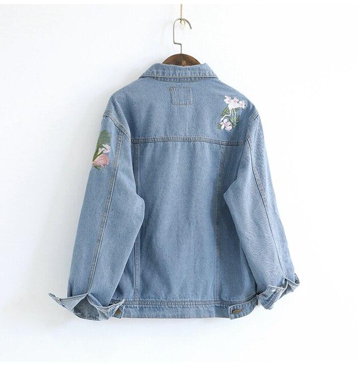BONU Oversize BF Denim Jacket Unisex Style Hooded Loosen Spliced Jean Jacket BF Streetwear For Lover casaco feminino Coat Female 1