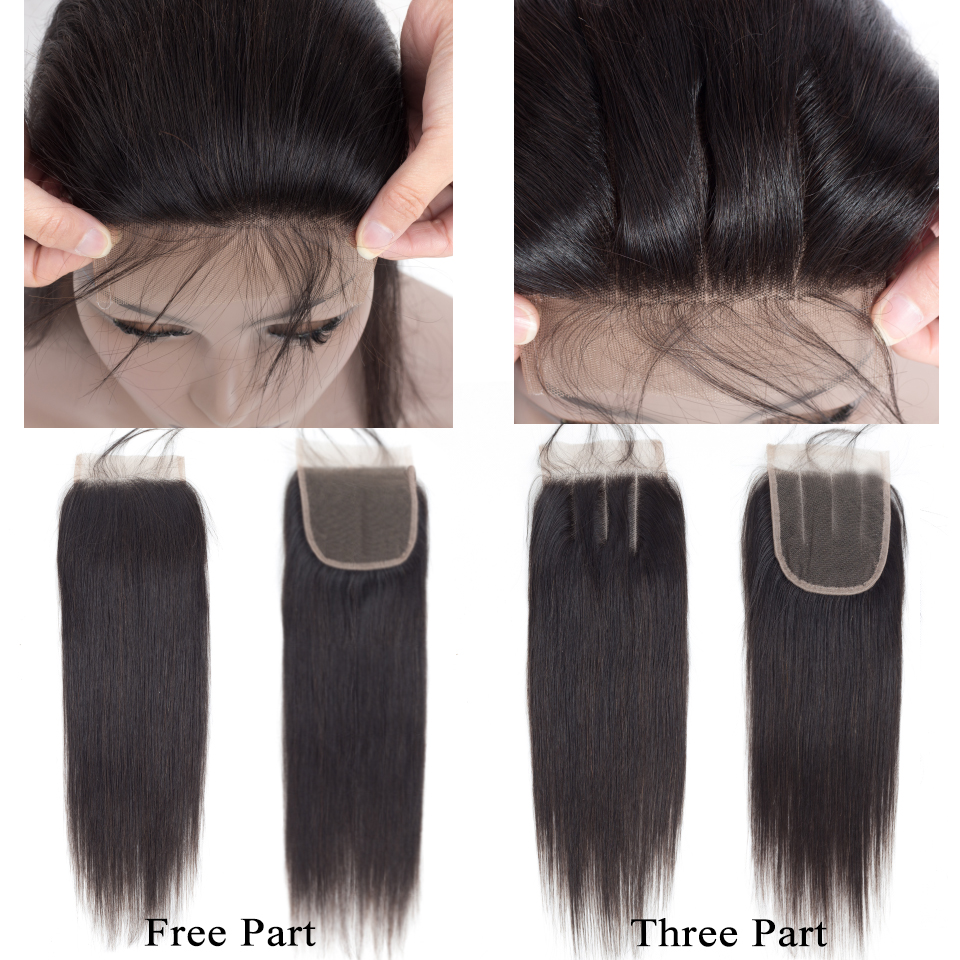 Queen nagu tooted Inimeste juuksekudumine sulgemisega Non Remy Weft 3 - Inimeste juuksed (must) - Foto 4