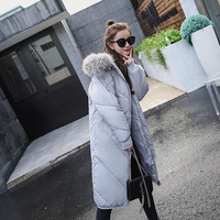 Women Winter Jacket Plus Size 2017 Army Green Womens Down Jacket Thick Fur Hooded Long Cotton