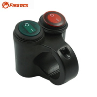 22mm Motorcycle ATV Handlebar 2 Control Button Switch Headlight Hazard Brake Fog Light ON OFF Switches