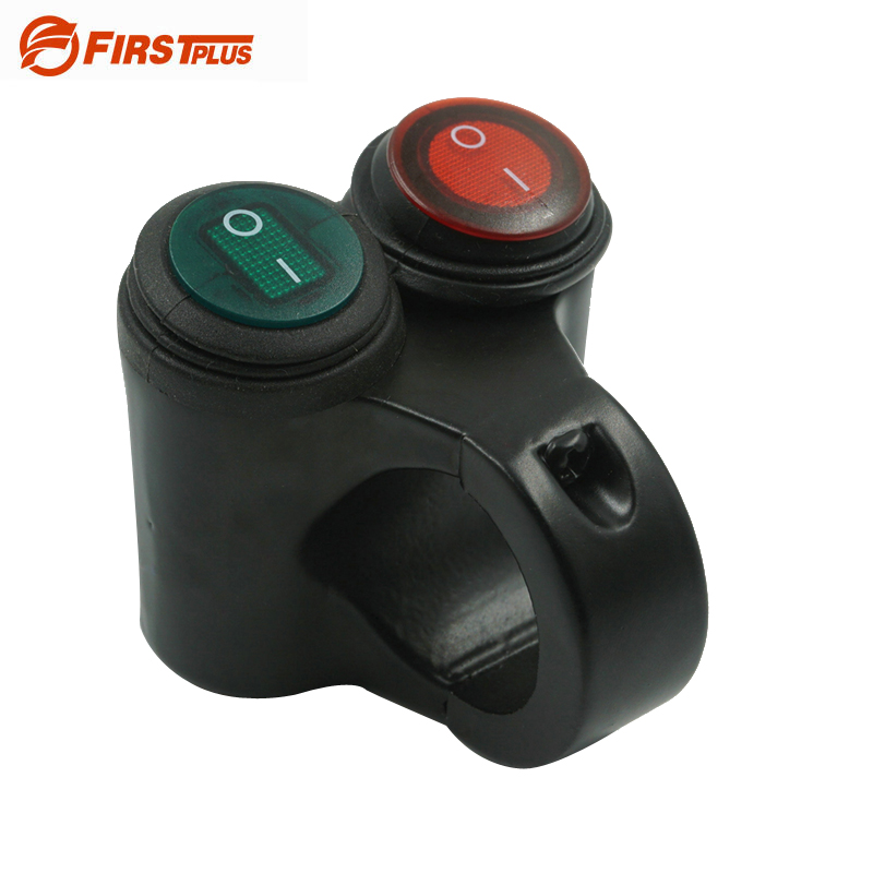 Aluminum Motorcycle Handlebar Double Control Button Switch Headlight Hazard Brake Fog Li ...