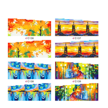 Beautiful Fall mix oil painting water transfer nail sticker on nail art stickers with full cover nail sticker Nail Art Stickers