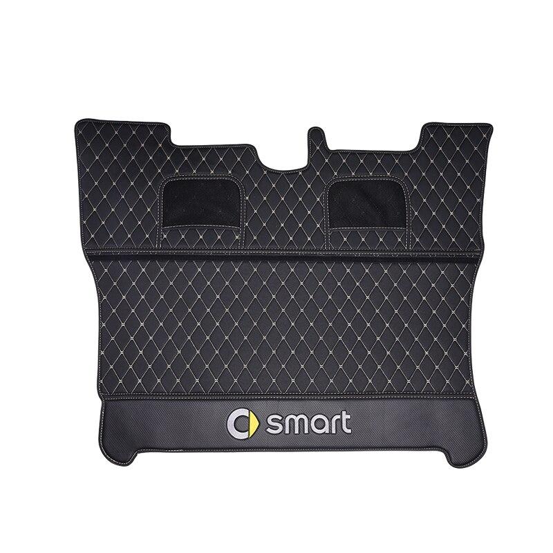 Tapis de coffre de voiture logo accessoires décoratifs style pour nouveau smart 453 fortwo boîte arrière intégré en cuir anti-sale protection pad - 6