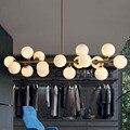 Ouro/preto feijão mágico led luzes pingente loja sala de estar sala de jantar lâmpada pingente de vidro moderno levou striplight luminárias Comprimento 980mm