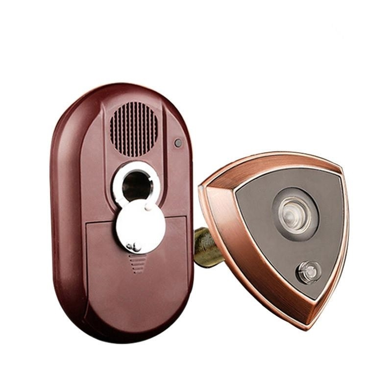 2 In 1 Metal security Door Viewer with doorbell 180 Degree Wide Angle door peephole Furniture Hardware 2 dx in door