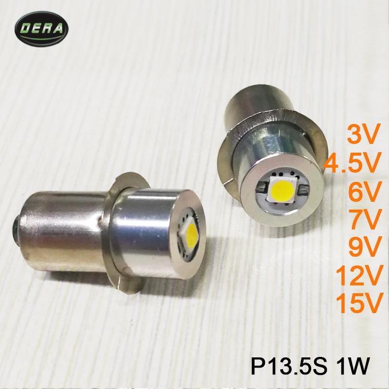 E10 P13.5S BA9 1W LED For Focus Flashlight Replacement Bulb Torches Work Light Lamp DC3V 3.7v 4.5v 6V 7.5v 9v 12v 15V Bulbs