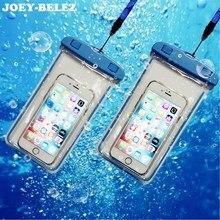 Водонепроницаемый сумка с световой подводный чехол телефона чехол для iphone 6s 7 универсальный плавание сумки для всех моделей 3,5 дюймов-6 дюймов
