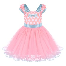 Cute Minnie Kids Baby Girls Casual Birthday Party Ball Gown Tutu Dress Halloween Cosplay Polka Dot Mouse 1-5Y