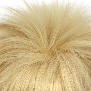 Image 4 - L e mail peruca novo meu herói academia cosplay perucas bakugou katsuki 30cm amarelo curto cabelo sintético perucas cosplay peruca