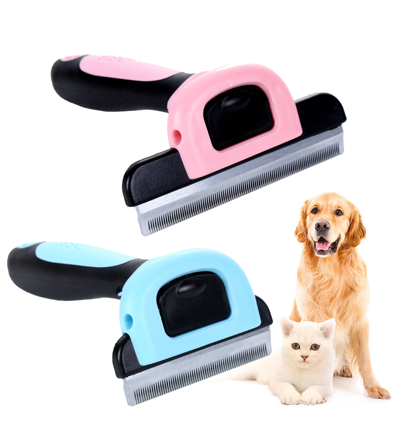 Pet Grooming Tool Hair Removal Brush Comb for Dogs Cats Brush Detachable Hair Shedding Trimming Wholesale  storage cable