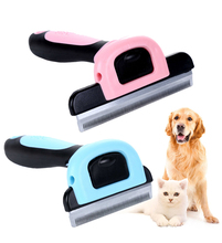 Escova para pentear animais de estimação, pente para cachorros e gatos, com grampo removível, para cuidado de animais, itens para pets