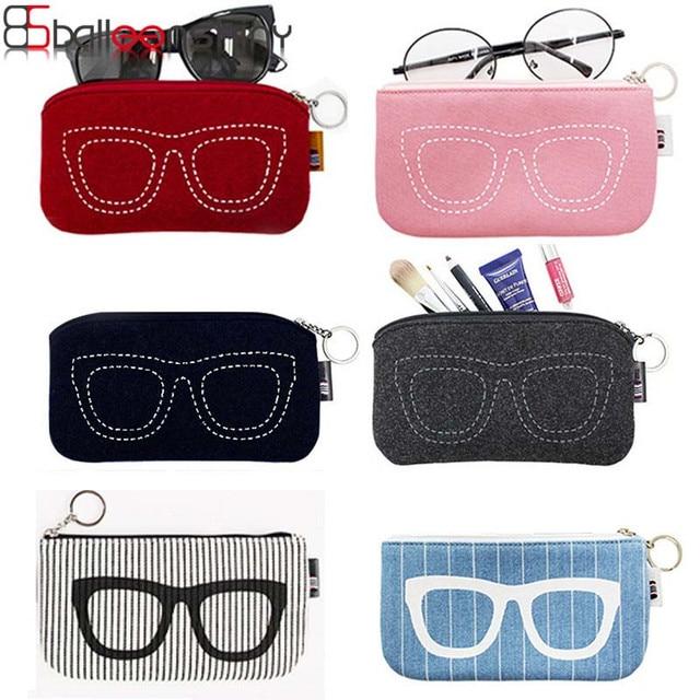 BalleenShiny Small Glasses Storage Bag Cosmetic Key Pouch Mini Cute Sun glasses Organizer Container Handbag