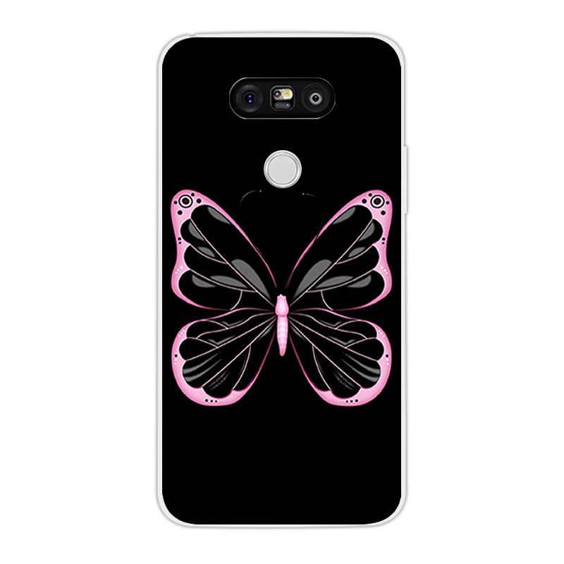 Для LG G5 задняя крышка чехол для телефона из мягкого силикона ТПУ с рисунком чехол для LG G5 гелевые прозрачные для Land Coque LG G5 H850 VS987 H820 LS992 H830 Fundas