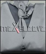 free shipping hot sale silver dot waistcoat for party wear(vest+ascot tie+cufflinks+handkerchief)