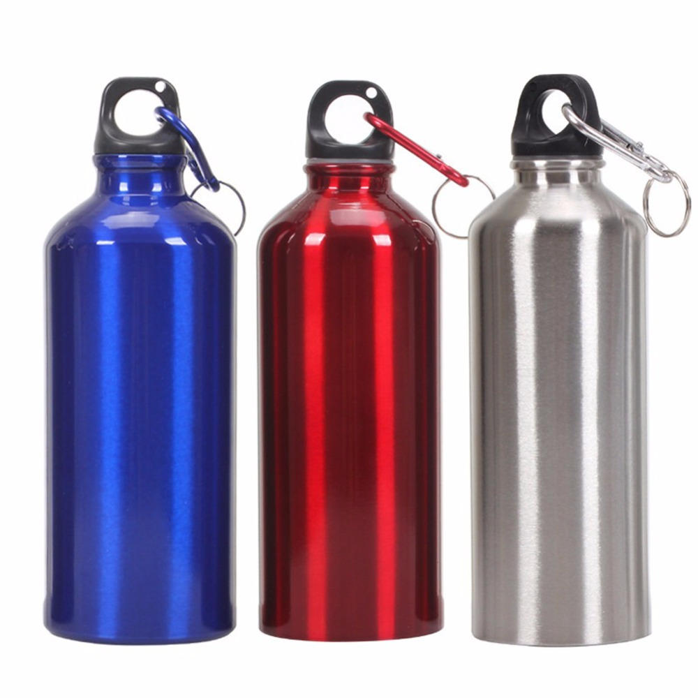 Water Bottle 400ml 500ml 600ml outdoor exercise plastic Bike Sports Water Bottles drinking aluminum material easy to carry