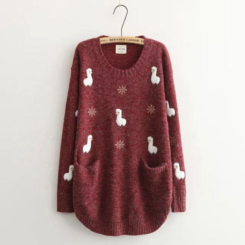 Cute Alpaca Women's Pullover