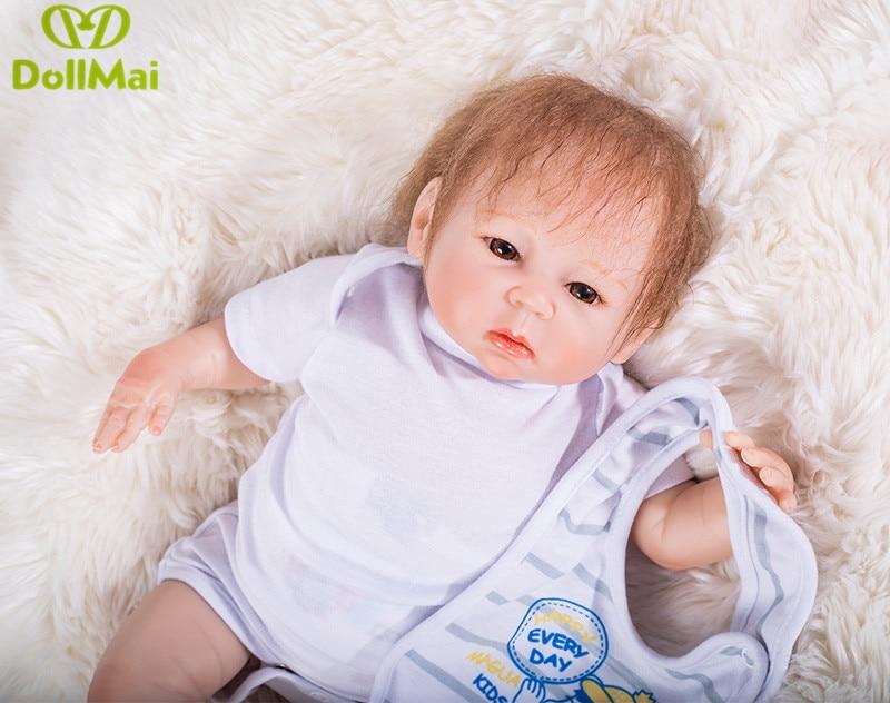 Newborn baby boy bambole reborn bebes reborn menino 46 cm in silicone rinato bambole del bambino regalo oyuncak bebek silikonNewborn baby boy bambole reborn bebes reborn menino 46 cm in silicone rinato bambole del bambino regalo oyuncak bebek silikon