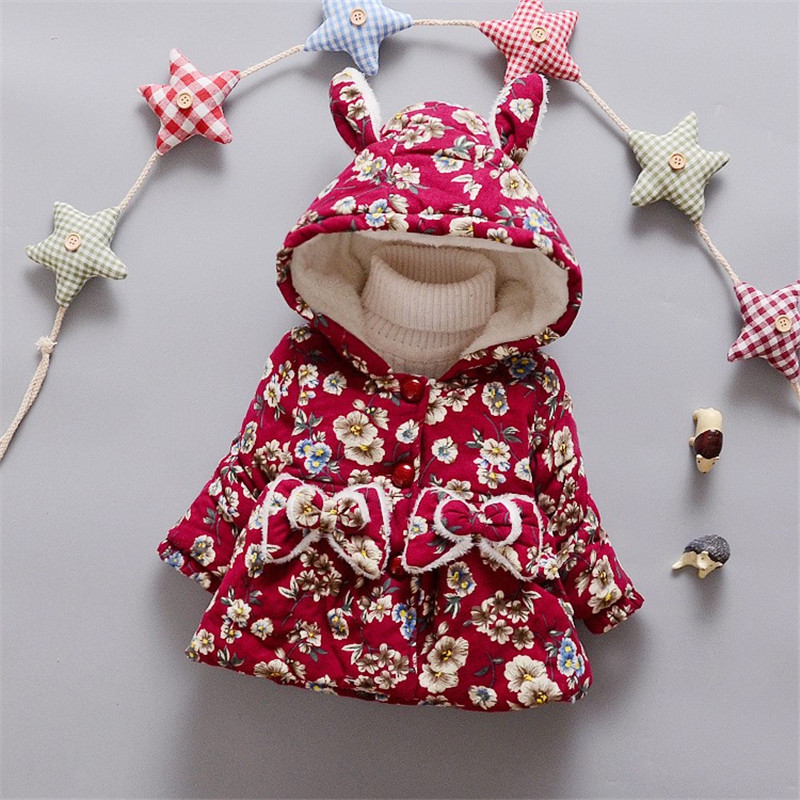 BibiCola Baby Girl Jacket Autumn Warm Coat Children Clothes For Winter Kids Girl Clothing Infant Clothes Bebe Winter Coat/Jacket