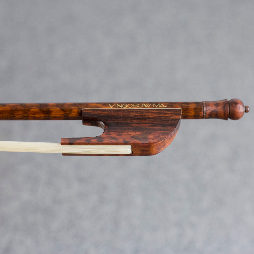 610V 4 4 Size Light Baroque VIOLIN BOW Snakewood Stick and Frog Natural Mongolia Horsehair Straight