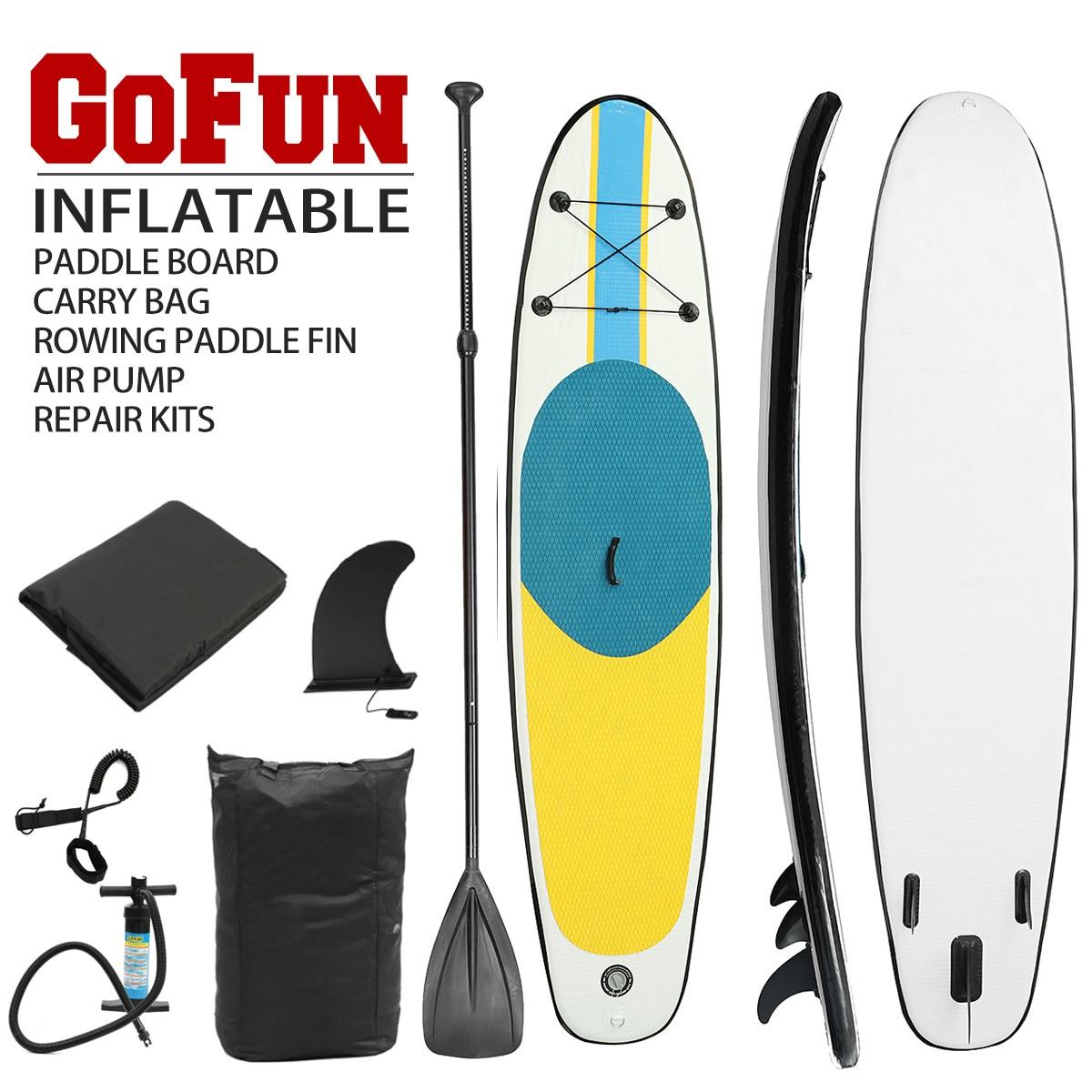 Planche gonflable Stand Up Paddle planche Sup-planche de Surf Kayak Surf set 300 cm x 76 cm x 10 cm avec sac à dos, laisse, pompe, sac étanche