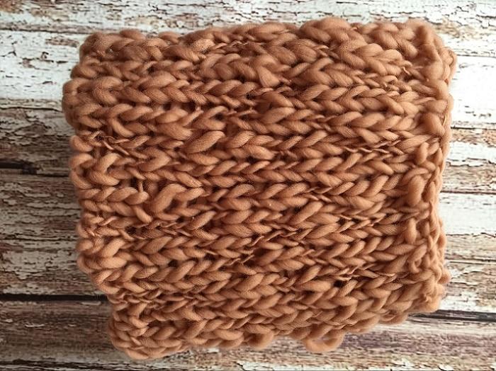 50*50cm artesanato de fibra acrílica cobertor cesta