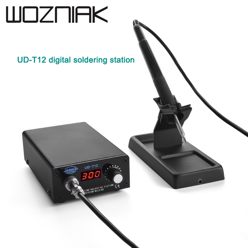 UD-T12 Digital Soldering Station Portable Soldering Station Mobile Phone Repair Tool Adjustable Temperature Soldering Station