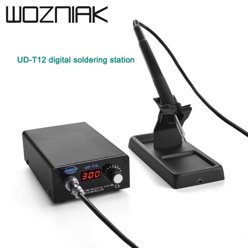 UD-T12 Digital Soldering Station Portable Soldering Station Mobile Phone Repair Tool Adjustable Temperature Soldering Station