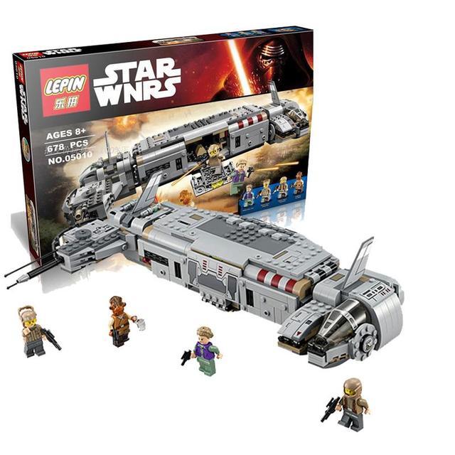 2016 New 678pcs LEPIN 05010 Star Wars Resistance Army cavalry transport assembling building blocks 75140