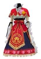 LoveLive! Нико Ядзава семь Лаки gods пробудить Косплэй Хэллоуина платье + аксессуары для волос + корона + Обувь