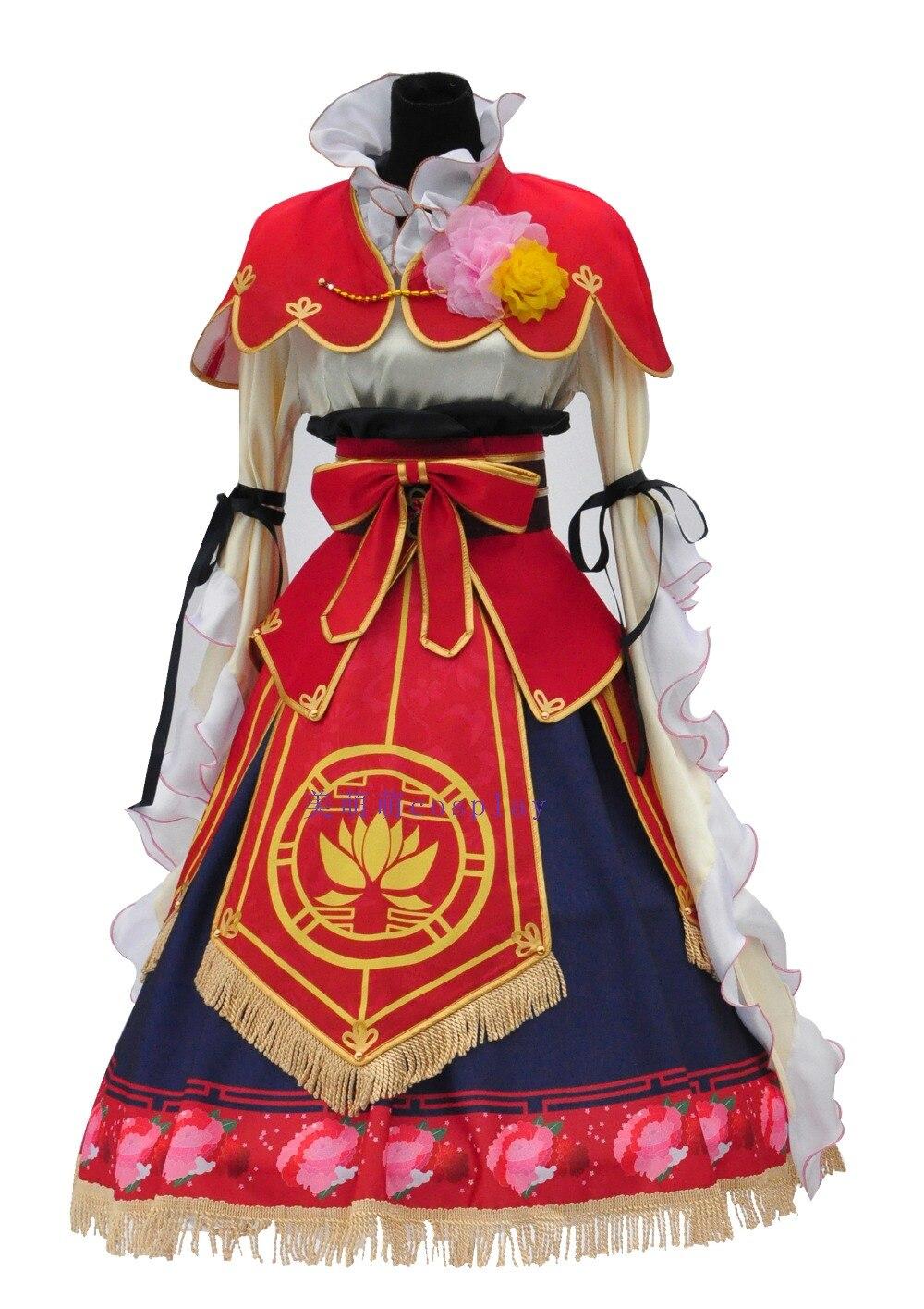 Nico Yazawa Seven Lucky Gods Awaken Cosplay Costume Halloween Dress Hair Accessories Crown Shoes