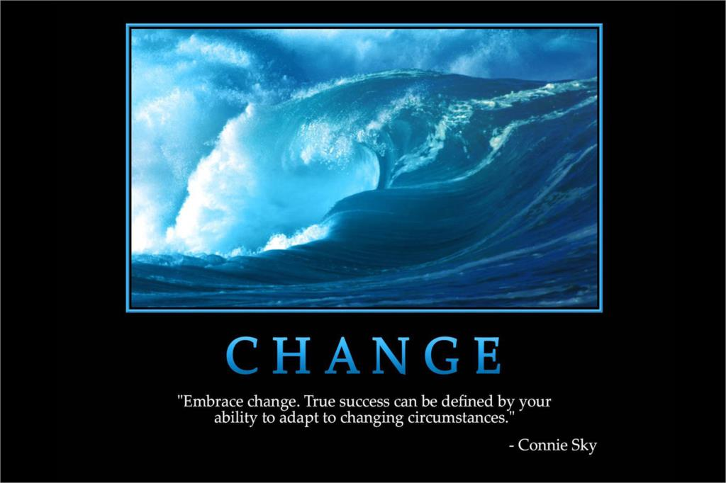 DIY Frame CHANGE Connie Sky Inspirational MOTIVATIONAL Poster Fabric