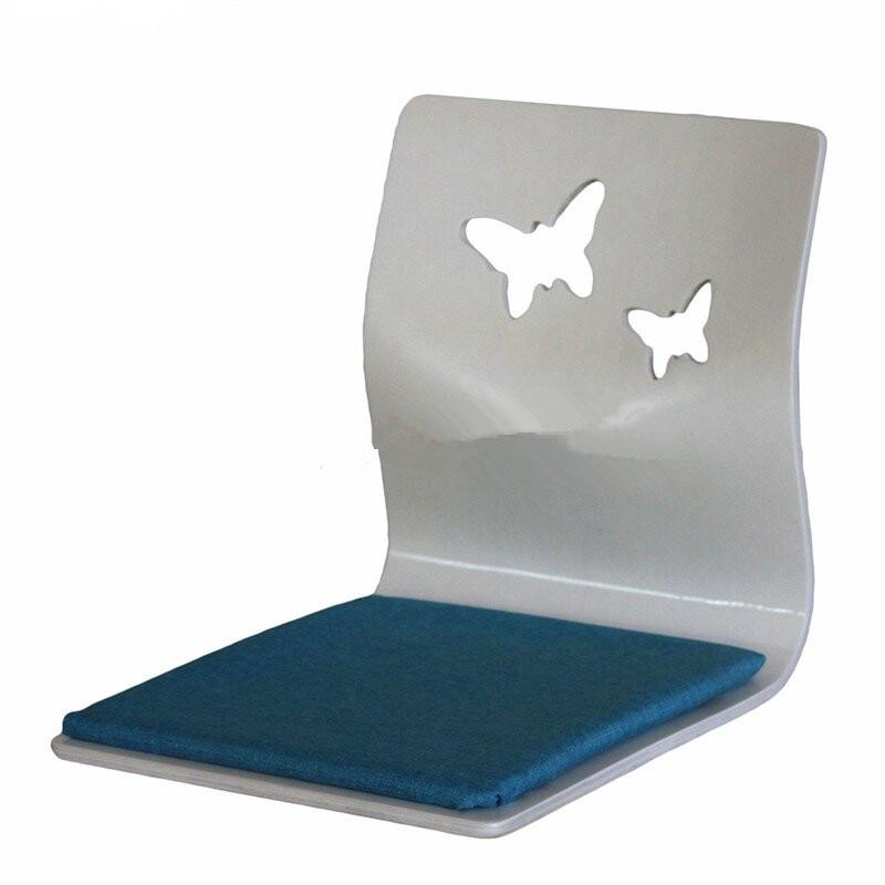 (4pcs/lot )Japanese Zaisu Legless Chair White Finish Fabric Cushion Floor Seating Furniture Living Room Tatami Chair Wholesale