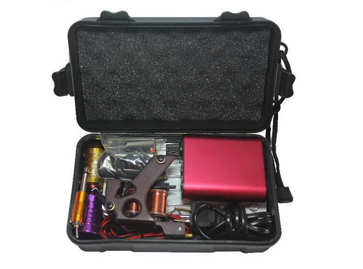 Anfänger Tattoo Starter Kits 2014 Kit Tattoo Komplette Maschine mit bester Qualität Permanent Make-up Maschine