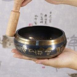 Himalaia mão tigela decorativa chakra meditação parede pratos yoga budista tibetano latão cantando tigela budista suprimentos tibetanos
