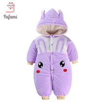 Snowsuits Baby Outerwear & Coats Winter romper Cute Rabbit Rompers Baby Snow Wear Newborn Snowsuits jacket for women boy Cotton