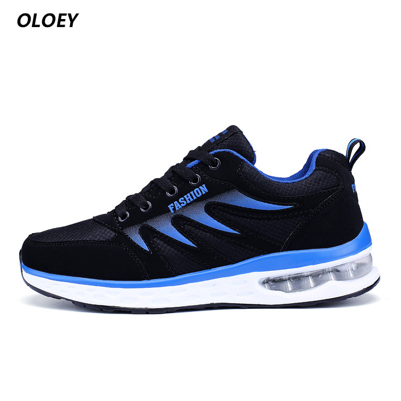 Fooraabo 2017 winter Mens Fashion Casual Trend Male Air Mesh Breathable Men Sneaker Flats Top Classic Leather Shoes ...