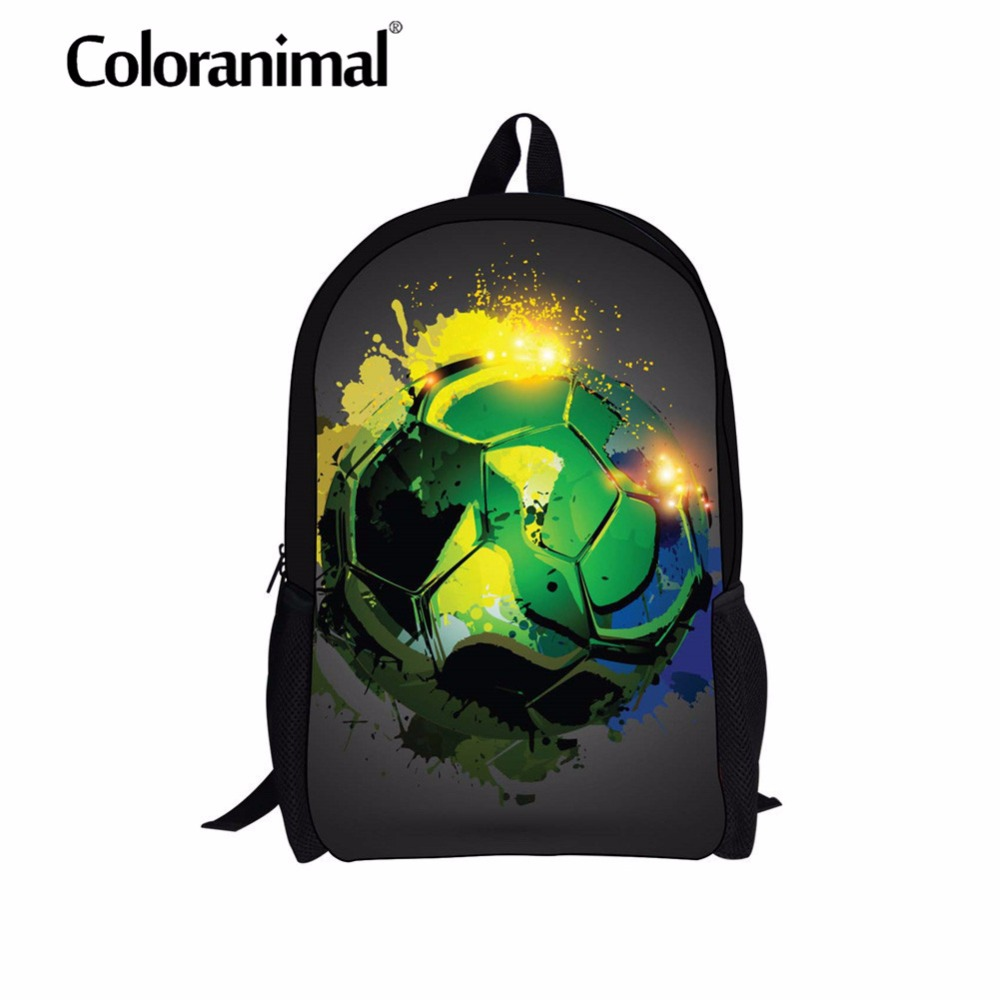 Lights & Lighting Coloranimal Cool Soccerly Schoolbags For Children 3d Basket Ball Pattern Teenager Girl Boy Casual School Backpack Shoulder Bag Sufficient Supply