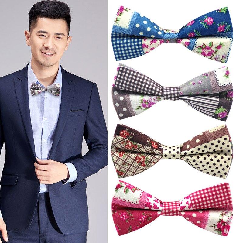 Kleidung & Accessoires 2 Layer Blue Polka Dot Design Dinner Party Men Bowtie Formal Bow Neck Tie