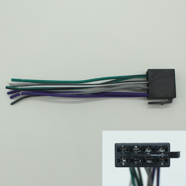 online shop universal female iso radio wire wiring harness adapter rh m aliexpress com Ididit Wiring Wiring Aftermarket Speakers