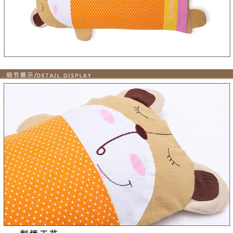 غطاء وسادة للأطفال الرضع 2019 غطاء وسادة على شكل حيوان كرتوني لطيف بعمر 1-6 سنوات 100% غطاء وسادة للأطفال من القطن الخالص للأطفال