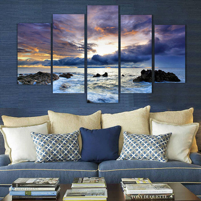 Free shipping ocean oil painting printed painting home decoration on canvas wall decor landscaping paintings wall
