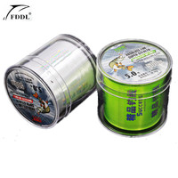 FDDL Brand Good Quality 500M Super Strong Nylon Fishing Line Monofilament Fishing Wire Green White Carp
