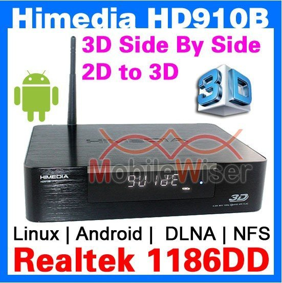 Himedia HD910B 3D Full HD 1080p HDMI 1.4 Blu-Ray ISO Media Player Realtek 1186