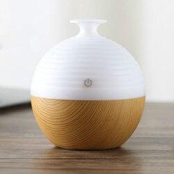 Dyfuzor olejków eterycznych 150ml USB dyfuzor do aromaterapii ziarna drewna ultradźwiękowy fajny zapach do nawilżacza mgły dla Home Office