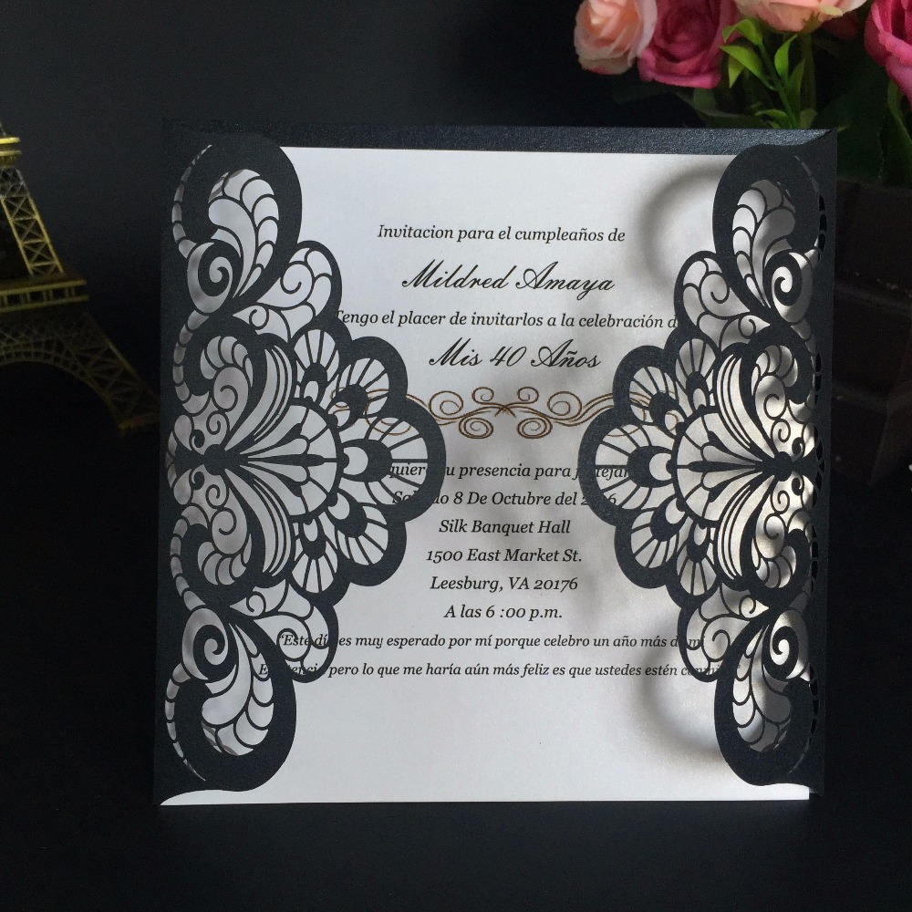 Wedding Invitations Business: 30pcs Wedding Invitations Cards Customizable Laser Cut