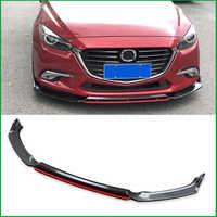 Für Mazda 3 M3 Axela 2014-2018 Frontschürze Sport Stil Lip Unteren Kühlergrill Diffusor Protector Platte Spoiler Körper kit Abdeckung Trim